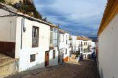 Picturesque narrow street in european city  — Stock Photo