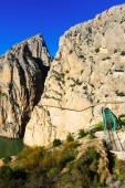 General view of  Caminito del Rey — Стоковое фото