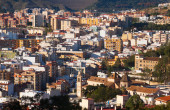 Residential districts in andalusian city Malaga — Stockfoto