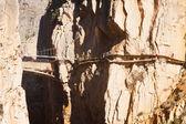 Reconstruction of  Camino del Rey   — Стоковое фото