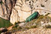 Railway bridge in rocky and Caminito del Rey — Стоковое фото