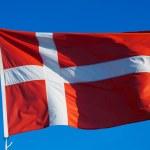 Flag of Denmark against sky — Stock Photo #66550783