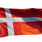 Flag of Denmark on white — Stock Photo #66550787