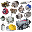 Set of motor and automotive parts — Stock Photo #66551317