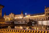 Evening view of Plaza de Espana. Sevilla  — 图库照片