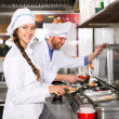 Professional chefs working at take-away — Stock Photo #66600845