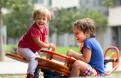 Children having fun at playground — Stock Photo