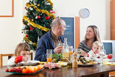 Family Christmas at home interior — Stock Photo