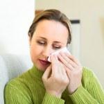 Woman wiping tears — Stock Photo #66617805