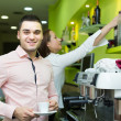 Bartender and barista working at bar — Stockfoto #66645989