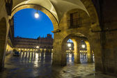 Closeup view of  Plaza Mayor  in evening  — Stock Photo