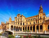 Building at  Plaza de Espana. Seville — Stock Photo
