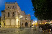 City hall in early morning at Seville — Stock Photo