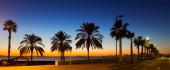 Sunset view of sea beach   — Stock Photo