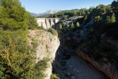 Zobrazení dne přehrady na řece Guadalentin — Stock fotografie