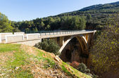 Bridge in mountains over Guadalentin river — Foto Stock