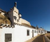 Dwelling  houses into mount.  Chinchilla — Stock Photo