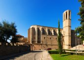 Cathedral of Pedralbes Monastery at Barcelona  — Stock Photo