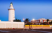 Lighthouse at Malaga in morning — Stock Photo