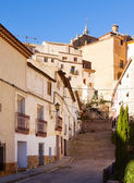 Picturesque  street in spanish city. Chinchilla — Stock Photo