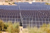 Closeup energie solární panel systém — Stock fotografie
