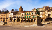 Picturesque house at Plaza Mayor. Trujillo  — Stock Photo