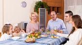 Sunday dinner of family — Stock Photo
