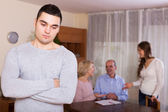 Misunderstanding in family at home — Stock Photo
