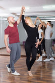 People having dancing class — Stock Photo