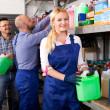Troubleshooters and superviser at storage — 图库照片 #69579897