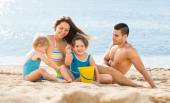 Holiday family with children — Stock Photo