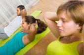 Fitness class in sport club — Foto de Stock