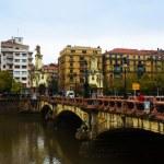 Maria Cristina bridge over Urumea river — Stock Photo #72140721