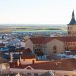 View of Campo de Criptana with church — Stock Photo #72143947