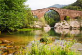 Medieval arched bridge — Foto de Stock