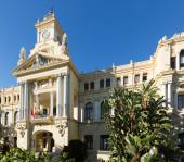 City hall of Malaga in sunny day  — Zdjęcie stockowe