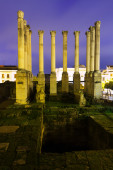 The antique temple of the Roman Empire. — Stock Photo