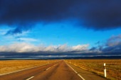 European empty  road — Stock fotografie
