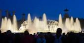 Montjuic fountain in Barcelona — Stock Photo