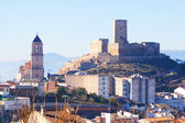 Alcaudete with castle and old church — Stock Photo