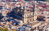 Top view of Jaen Cathedral — Stock Photo
