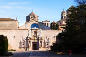 Poblet Monastery in sunny day. Catalonia — Stock fotografie