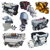 Set of engines of speedboat  — Stock Photo