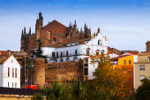 Cathedral of Plasencia in Spain — Foto de Stock