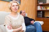 Family conflict in senior couple — Stock Photo