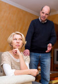 Couple being reconciled after argue — Stock Photo