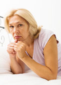 Unhappy mature woman — Stock Photo