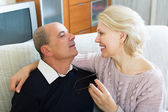 Couple pensioners together — Stock Photo