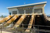 Water control station at delta of Ebro — Stock Photo