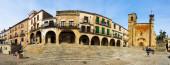 Panaramic view of Plaza Mayor — Stock Photo